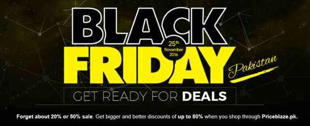Best Black Friday Deals 2016 for Online Shopping in Pakistan